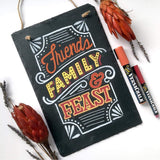"Slate Chalkboard Sign (8""x12"") friends family feast"