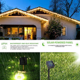Solar String Lights, 2-PACK 200 LED Copper Wire Lights