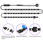 "LED Strip Lights - 3 Pre-Cut 12Inch/36Inch LED Light Strip Accent Kit for 24""-60"" TV"