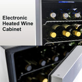 36 Bottle Wine Cooler with Digital Temperature Display
