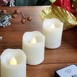 Tealights Candles with Remote Control Timer