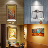 LUNSY LED Accent Lights, Wireless Spotlight with Remote and Battery Operated, Stick on Anywhere for Lighting up Painting Picture Artwork Closet, 3 Pack