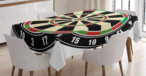 Dart Board Tablecloth