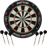 Bristle Steel Tip Dartboard Set with Staple-Free Bullseye