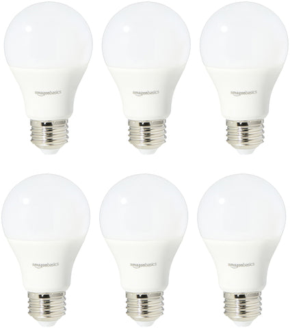 60 Watt Equivalent, Soft White, Non-Dimmable, A19 LED Light Bulb | 6-Pack