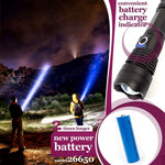 LED Flashlight 19W 4000 lumen with battery charge indicator