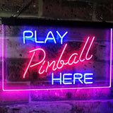 "Pinball Room ""Play Here""  Neon Sign for Man Cave"