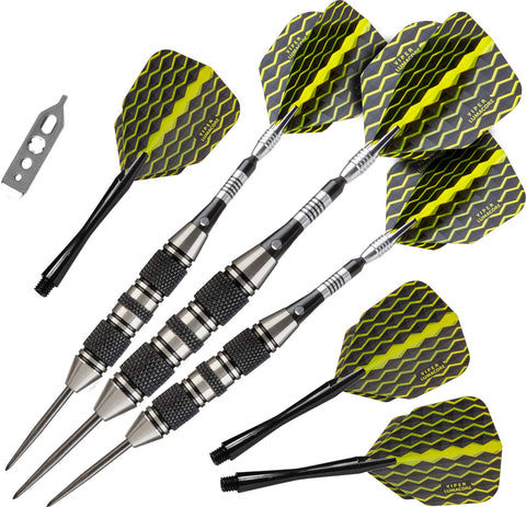 "Viper ""The Freak"" Steel Tip Darts, Grooved Barrel, 22 Grams"