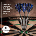 Viper Cold Steel 80% Tungsten Steel Tip Darts, 24 Grams