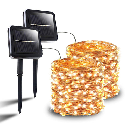 Solar String Lights, 2-PACK