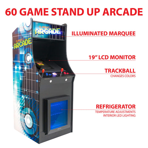 Full-Size Commercial Grade Cabinet Arcade Machine