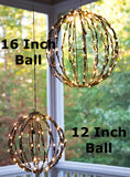 "Elf Logic 16"" Outdoor LED Light Ball (Plug in with Timer, 16 Inch)"