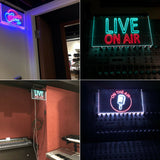 On The Air Microphone Studio Recording Signal Dual Color LED Neon Sign