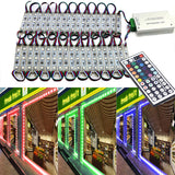 LED Store Front Lights 40 Pieces - 120 LED Module Window Strip Light for Advertising Signs 20'