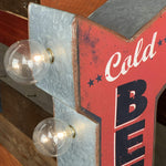 "Cold Beer 12"" Doubled Sided Marquee LED Sign"