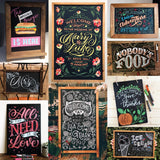 "Vintage Frameless Slate Chalkboard Sign (8""x12"") - Decorative Hanging Chalk Board for Rustic Wedding Signs, Kitchen Pantry & Wall Decor"