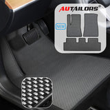 Floor Mats Set For Tesla Model 3 Made In USA - Waterproof Lightweight and Odorless- 3pcs in Normal