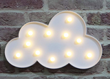 LED Cloud Sign - White