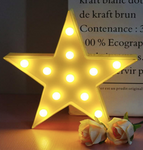 LED Star Marquee Sign  - Yellow Decorative