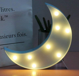 Decorative LED Half Moon Sign - Blue