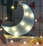 Decorative LED Half Moon Sign - with small Stand
