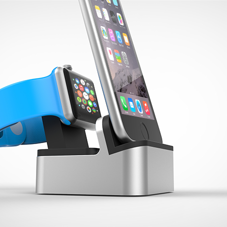 FŪZ Dock for Apple Watch + EverDock Duo (Space Gray)