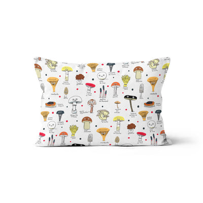 Mushrooms (Élise Gravel) - minky pillowcase