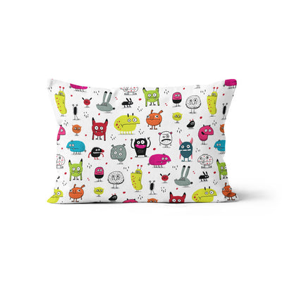 Monsters (Élise Gravel) - bamboo muslin pillowcase