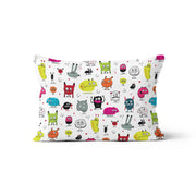 Monsters (Élise Gravel) - minky pillowcase