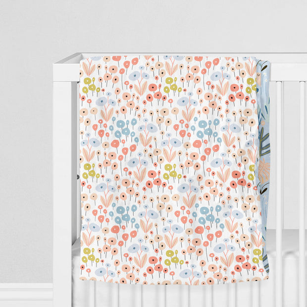 Dreaming in flowers - bamboo muslin 4 layers