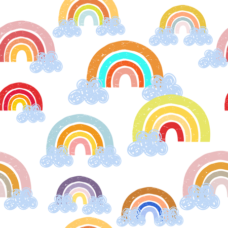 Colorful rainbows - minky comforters