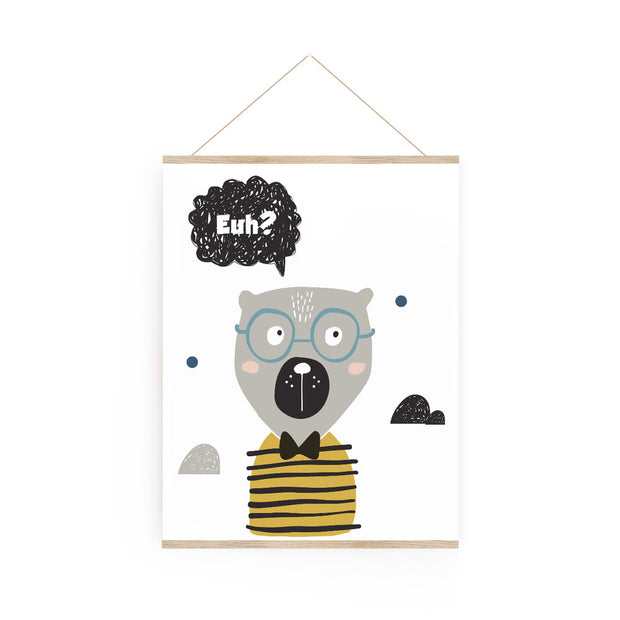Travelling bear - poster board 8 x 10""