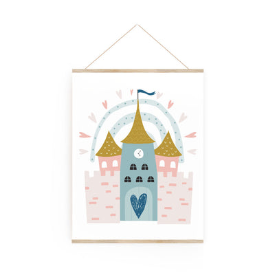 Satin castle - poster board 8 x 10""