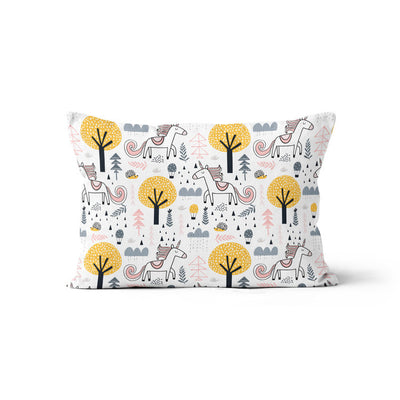 Unicorn in love - minky pillowcase