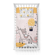Unicorn in love - bedspread in reversible minky (crib)