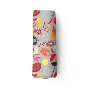 BBQ chef - bamboo muslin swaddle