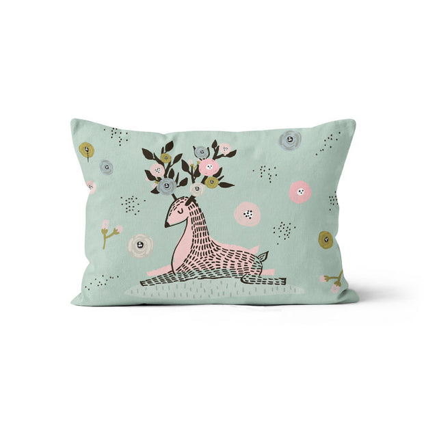 Flower crowns - minky pillowcase