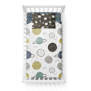 Space race - bedspread in reversible minky (crib)