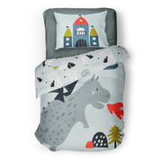 Knight in shining armour - bedspread in reversible minky (single & double)