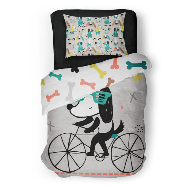 Bougie pooches - bedspread in reversible minky (single & double)
