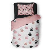 Sleepy kittens - bedspread in reversible minky (single & double)