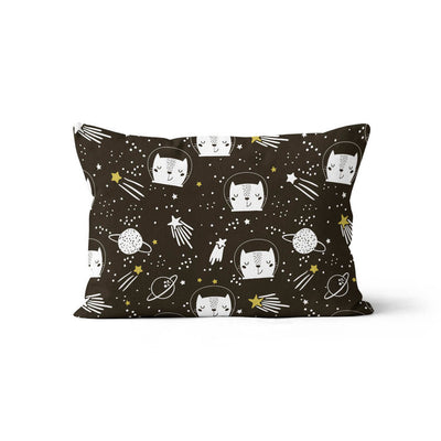 Space race - minky pillowcase