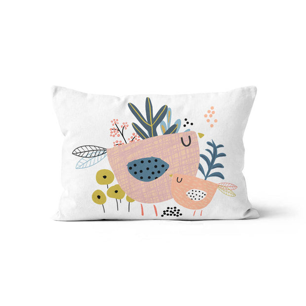 Dreaming in flowers - minky pillowcase