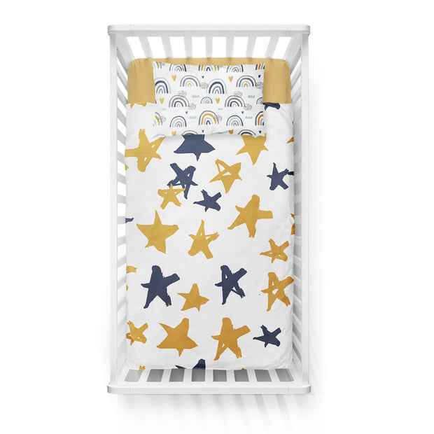 Sluggin' along - bedspread in reversible minky (crib)