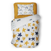 Sluggin' along - bedspread in reversible minky (single & double)