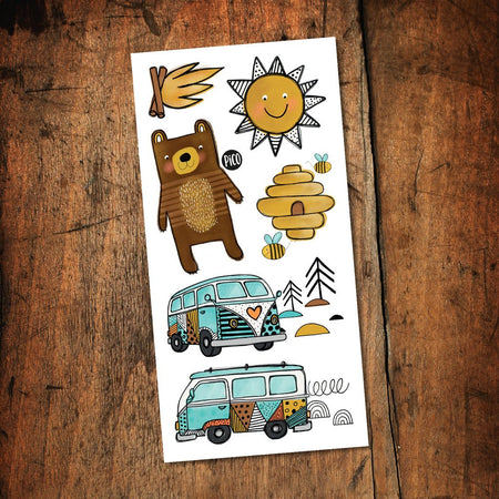 Children tattoos*** - Kumbaya - Camping car - PICO tattoos