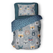 Lama'ttitude - bedspread in reversible minky (single & double)