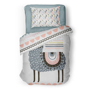 Mexi lamas - bedspread in reversible minky (single & double)
