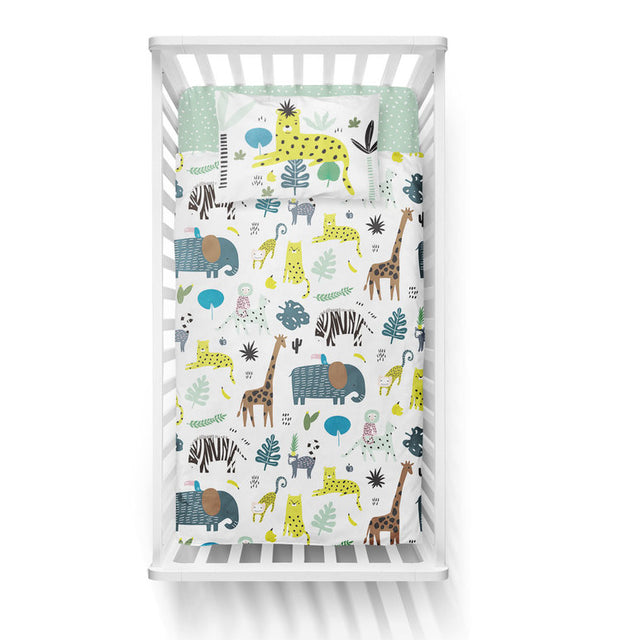 Jungle fever - bedspread in reversible minky (crib)
