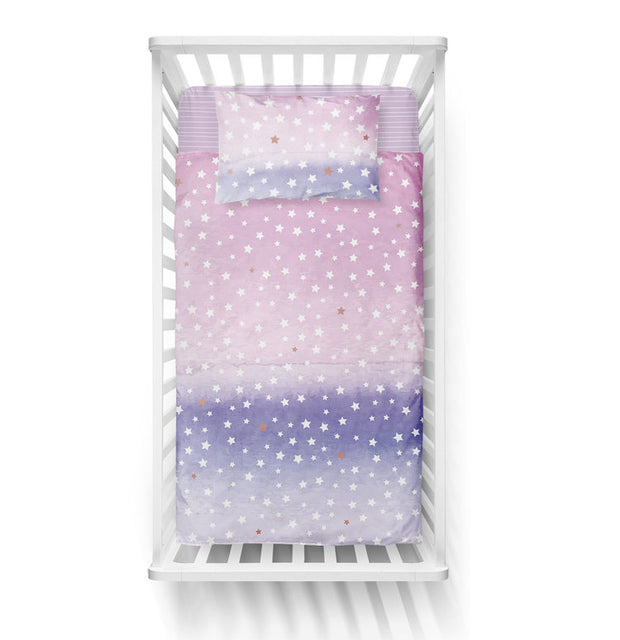 Starry godmothers - bedspread in reversible minky (crib)